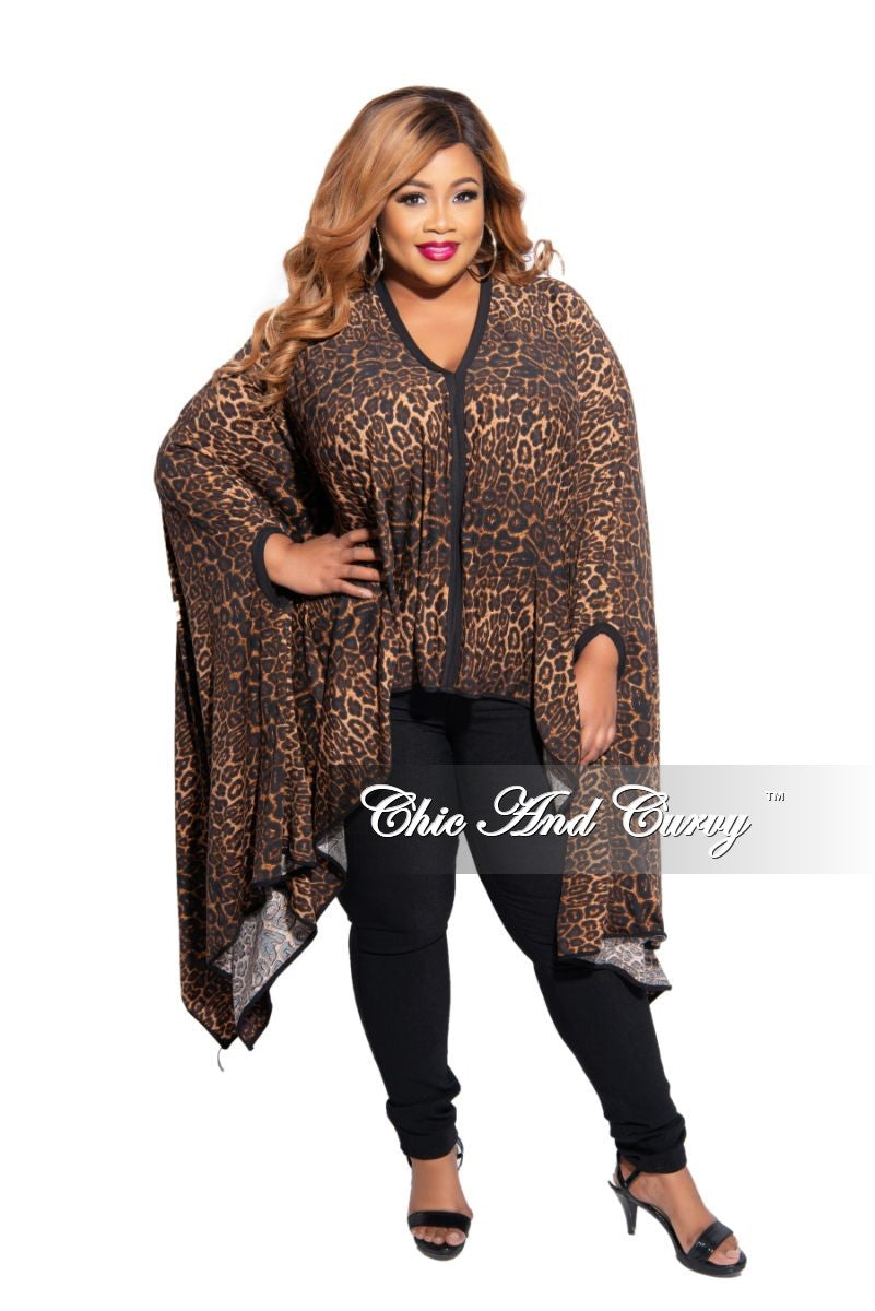 Final Sale Plus Size Oversized High-Low Top in Animal Print