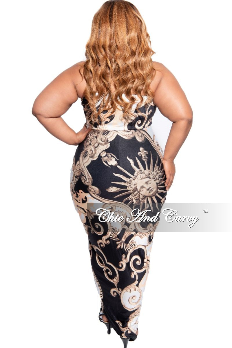 New Plus Size Strapless Hi-Low Tube Dress in Black, Tan, & Off White