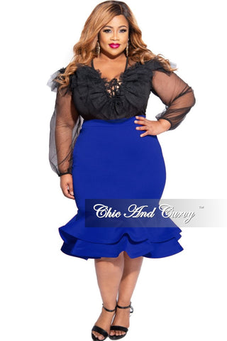 New Plus Size Faux Maxi Dress with Black Top & Striped Skirt
