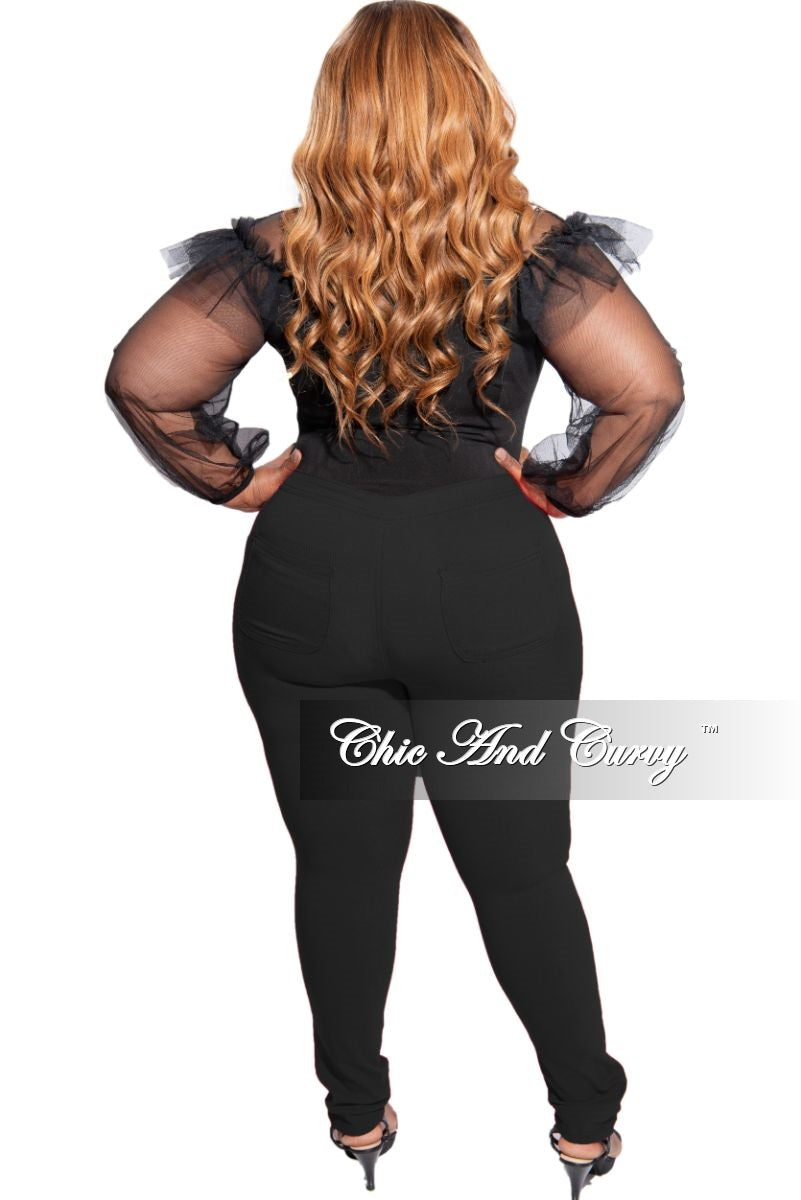 Final Sale Plus Size High Waist Jeans in Black