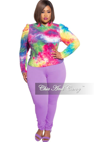New Plus Size Harem Pants in Purple/Orange Tie Dye