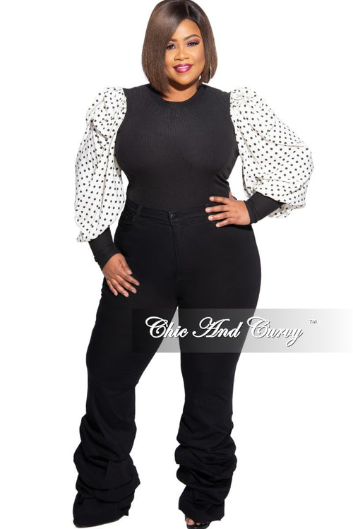 Final Sale Plus Size Ruched Leg Denim Jeans in Black