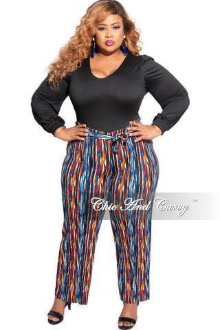 New Plus Size Jogger Pants in Camouflage