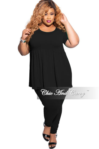 New Plus Size Mock Neck Sleeveless Top in Black