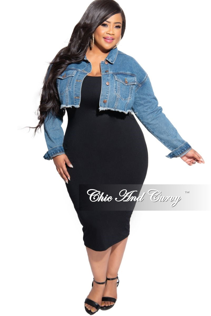 New Plus Size Tank Dress in Black