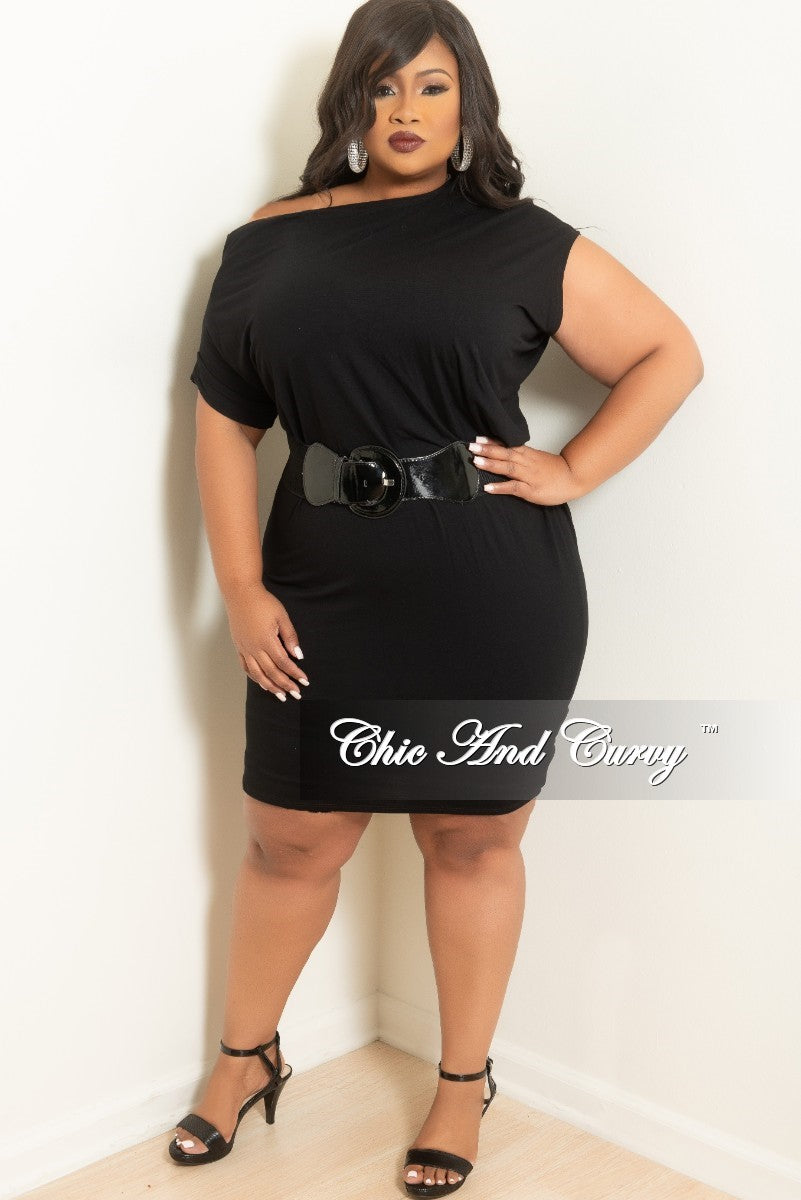 Final Sale Plus Size Tunic Dress In Black Chic And Curvy