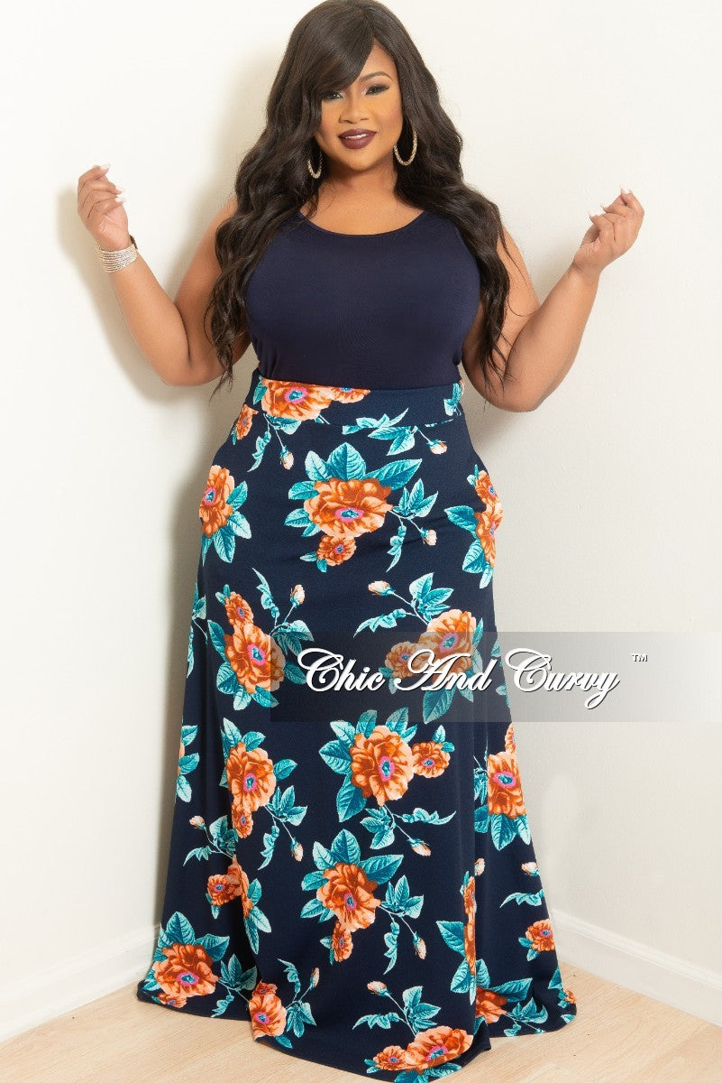 New Plus Size Sleeveless Top in Navy