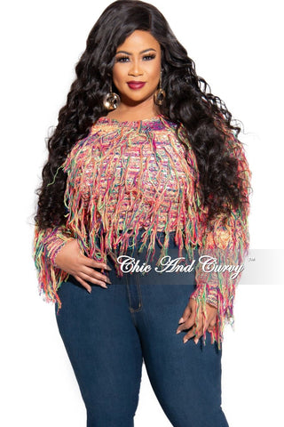 Final Sale Plus Size Top with Floral Hem in Beige
