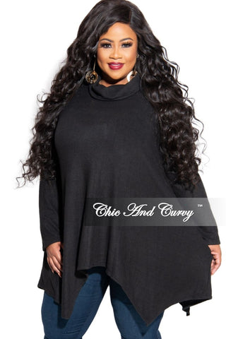 New Plus Size 3/4 Sleeve High-Low Top in Animal Print