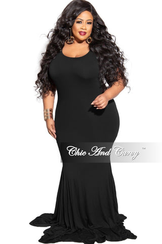 Final Sale Plus Size Exclusive Chic And Curvy Ribbed Zip Onesie Jumpsuit with Head Tie in Black