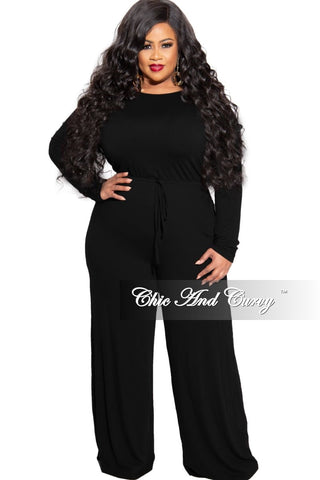 Final Sale Plus Size Silver Shimmer Trim V-Neck Jumpsuit in Ivory