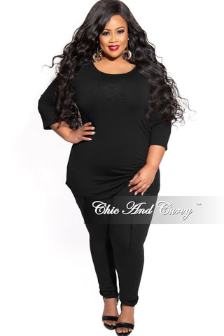 New Plus Size 2-Piece Crop Top and Palazzo Pant Set in Animal Print
