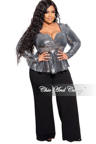 Final Sale Plus Size Fringe Shoulder Gown in Black