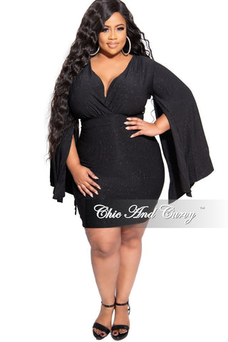 New Plus Size Dress with Pockets in Olive Green