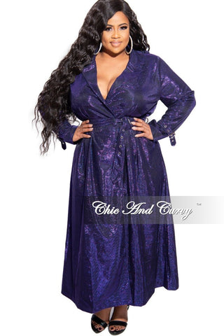Final Sale Plus Size Gown with Ruffle Sleeves and Glitter in Black