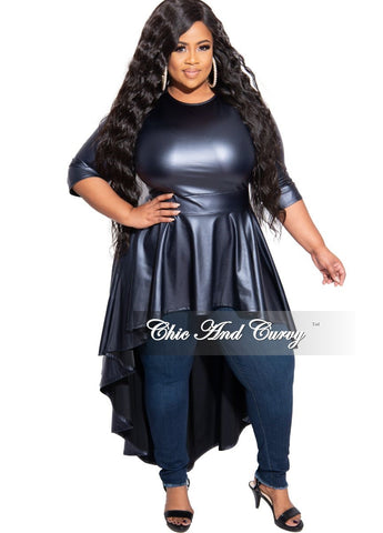 FInal Sale Plus Size Crop Jacket with Distressed Back in Denim