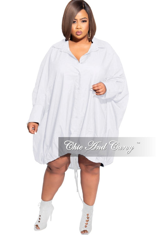 Final Sale Plus Size Oversized Dress In White