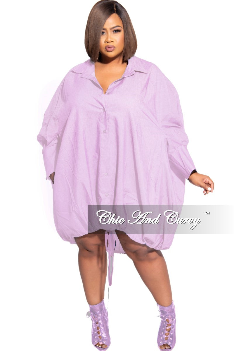 New Plus Size Oversized Dress In Lavender