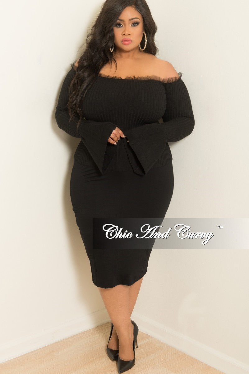 2ad097b5ce2 New Plus Size Pencil Skirt in Black – Chic And Curvy
