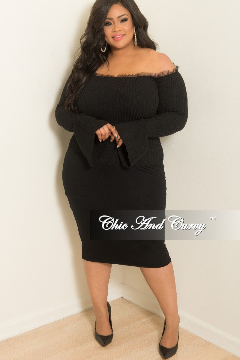 c0712cb16f New Plus Size Pencil Skirt in Black – Chic And Curvy