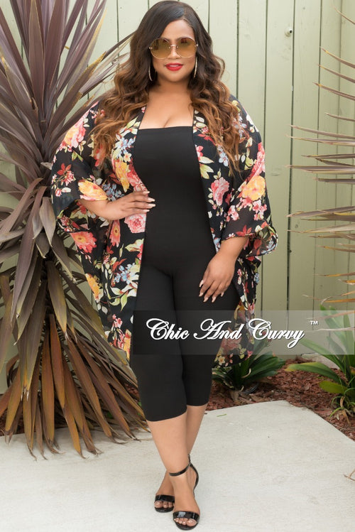 Final Sale Plus Size Strapless Tube Jumpsuit in Black