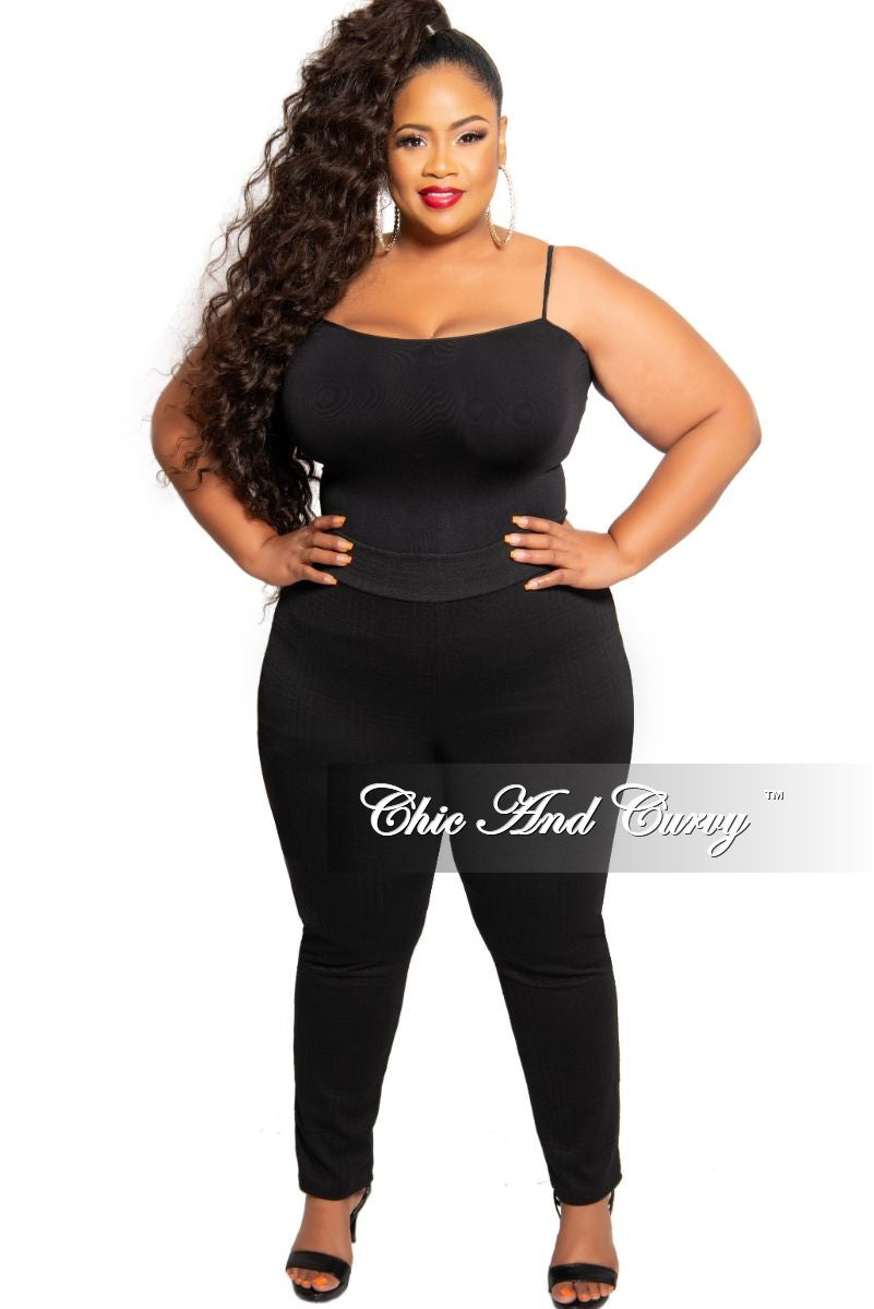 Final Sale Plus Size Spaghetti Strap Camisole in Black