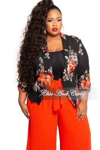 Final Sale Plus Size Semi-Sheer Mesh V-Neck Top in Black