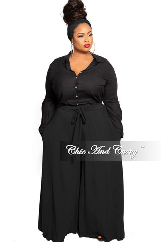 Final Sale Plus Size Exclusive Chic And Curvy Faux Wrap Mermaid Bottom Tie Gown in Black