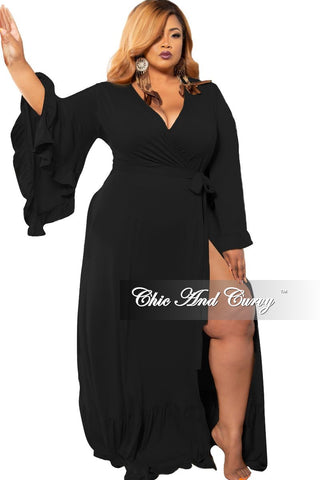 New Plus Size Chic And Curvy Exclusive Ruched Drawstring Jumpsuit in Black