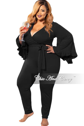 Final Sale Plus Size Exclusive Chic And Curvy Shimmer Mermaid Gown in Black