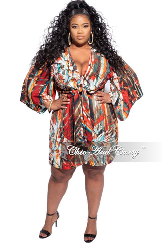 Preorder New Plus Size 2pc (Knotted Top & Palazzo Pants) Set in Orange, Purple & Olive Tie Dye
