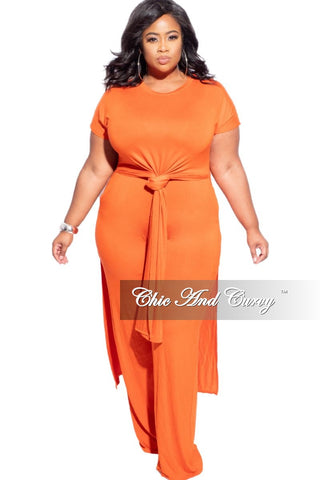 Final Sale Plus Size 2-piece Jogger Set in Black with White Trim
