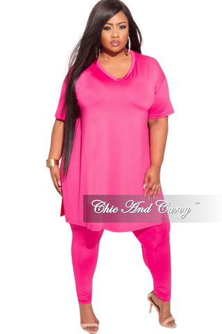 New Plus Size One Shoulder Jumpsuit in Pink / Cream Animal Print