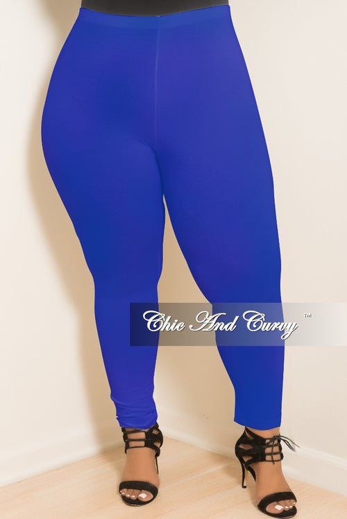 Final Sale  Plus Size Leggings in Royal Blue