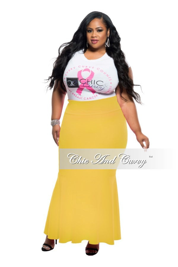 New Plus Size Mermaid Skirt in Yellow