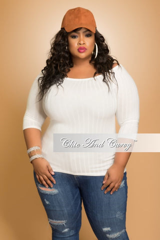 Final Sale Plus Size Off the Shoulder Top in Ivory
