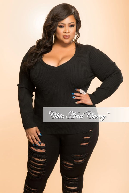 Final Sale Plus Size Long Sleeve Shirt in Black