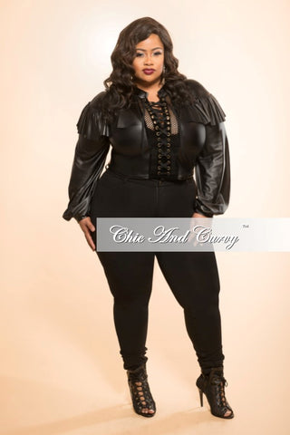 Final Sale Plus Size Denim Jeans in Black