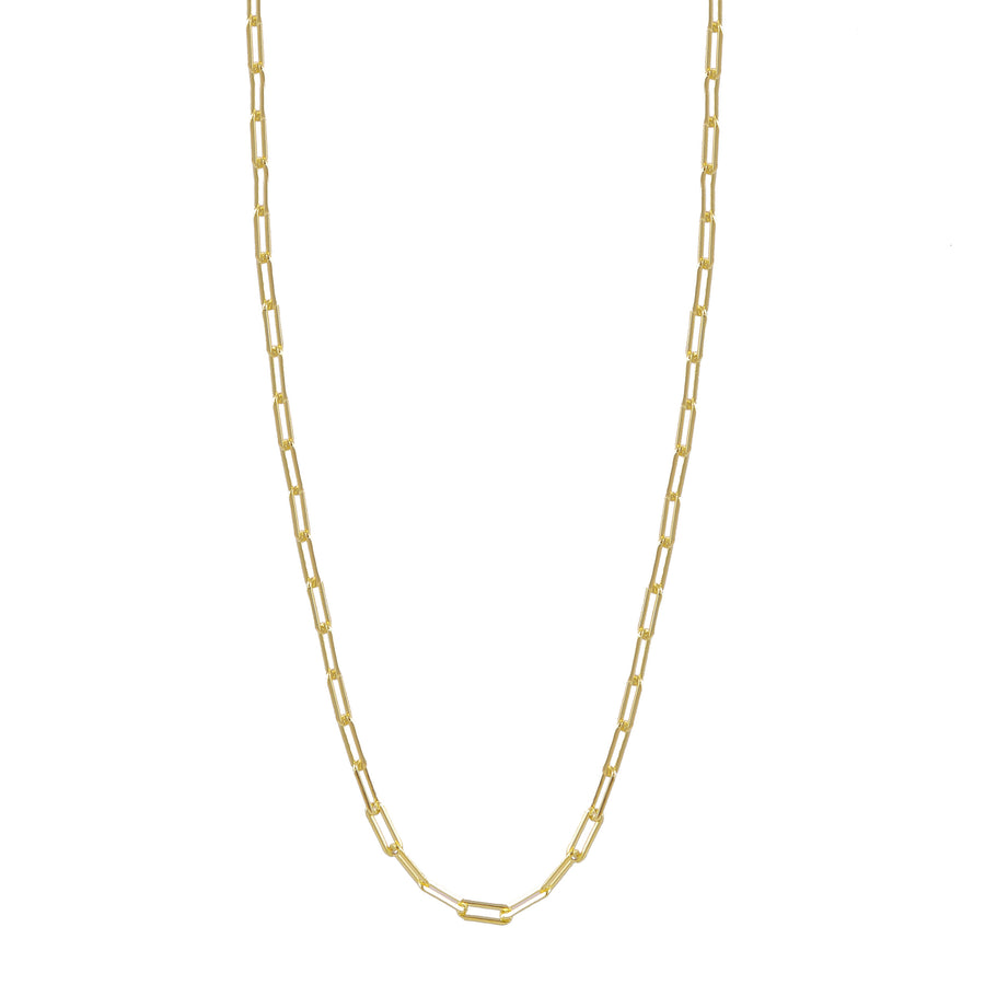 Paperclip Long Chain Necklace