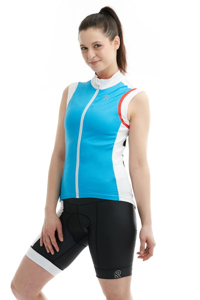 Sportsmesh Solid Sleeveless Mesh Colorblock Blue Black