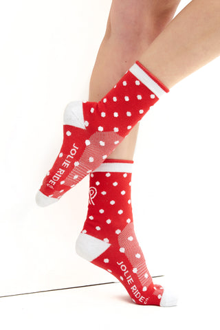 Cycling Socks Red Polkadot Accessories