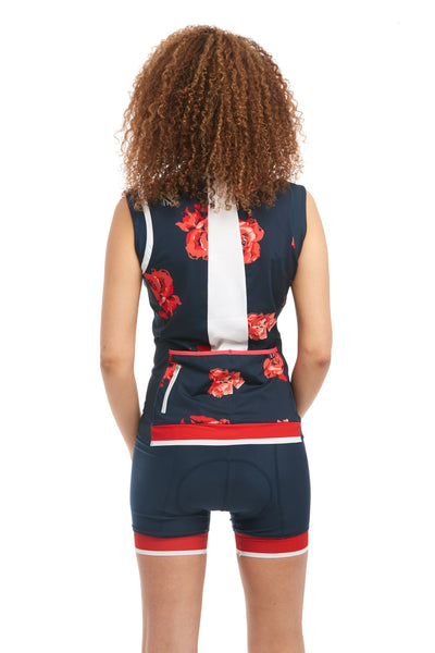 Cycle Sleeveless Jersey Navy Blue