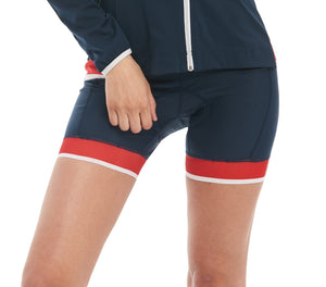 Cycling Short Navy red cyclewear cuissard bikewear women jolieride