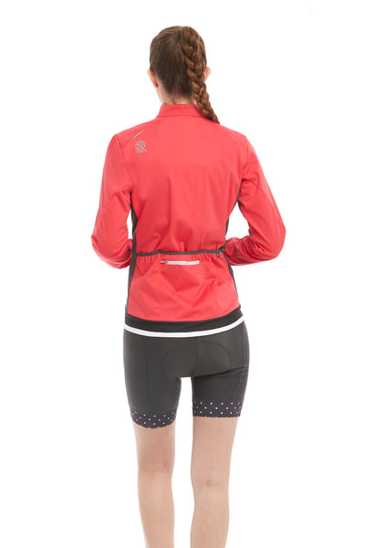 Waterproof Lightweight Cycling Jacket Coral Pink