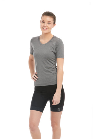 Cycling T-Shirt Grey Backpocket