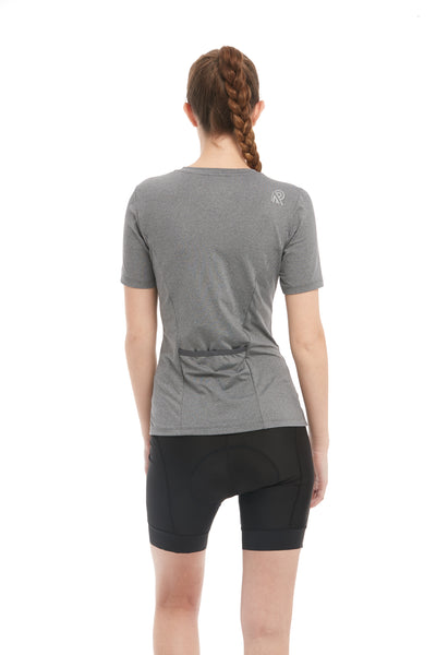 Cycling Short Sleeve T-Shirt Grey