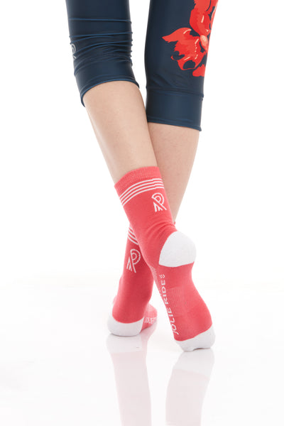 Cycling Socks Coral
