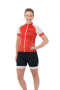 Short Sleeves, Jersey, 50 UFP, Fire-red, Mesh Sleeves, JolieRide