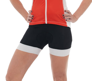 Cycling Short Black White Padded cyclewear jolieride women bicycle bikewear cycle wear
