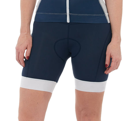 Cycling Short Navy White Padded cyclewear jolieride women bicycle bikewear cycle wear